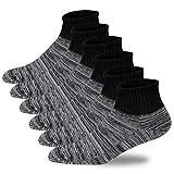 +MD 6 pares de calcetines para diabéticos cinturilla ancha Calcetines sanitarios medio acolchados sin calcetines elásticos para diabéticos Negro EU46-50